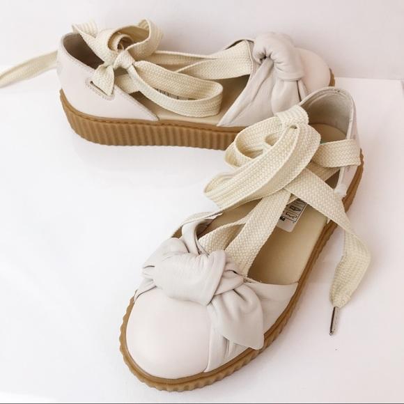 new arrival 2199e 660a8 {FENTY x PUMA} -New- Bow Creeper Lace Up Sandals
